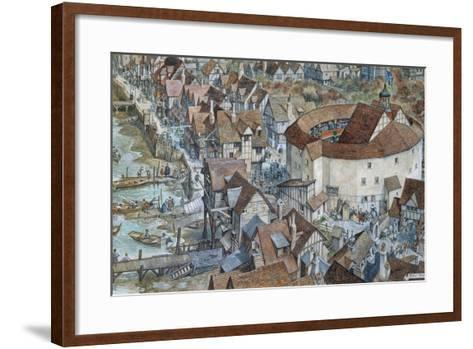 Old London Reconstructed: the Rose Theatre, Southwark-Peter Jackson-Framed Art Print