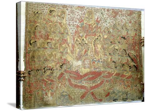 Cloth Painting, Probably Used as Curtains Beside a Temple Couch--Stretched Canvas Print