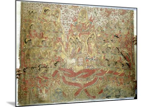 Cloth Painting, Probably Used as Curtains Beside a Temple Couch--Mounted Giclee Print