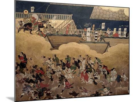 Detail of Part of a Folding Screen Which Depicts the Siege of Osaka Castle (1615)--Mounted Giclee Print