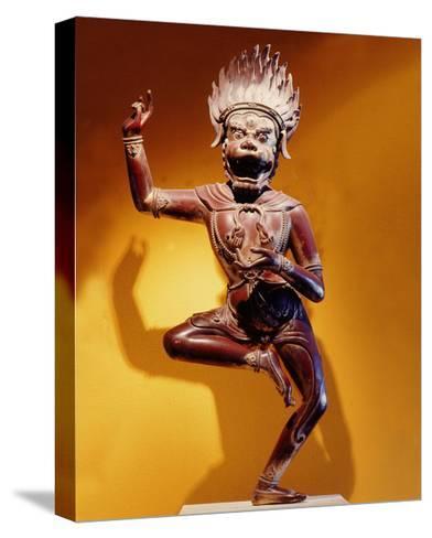 A Statue of Simhavaktra Dakini, a Lion-Faced Dakini--Stretched Canvas Print