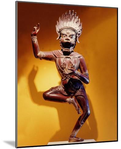 A Statue of Simhavaktra Dakini, a Lion-Faced Dakini--Mounted Giclee Print