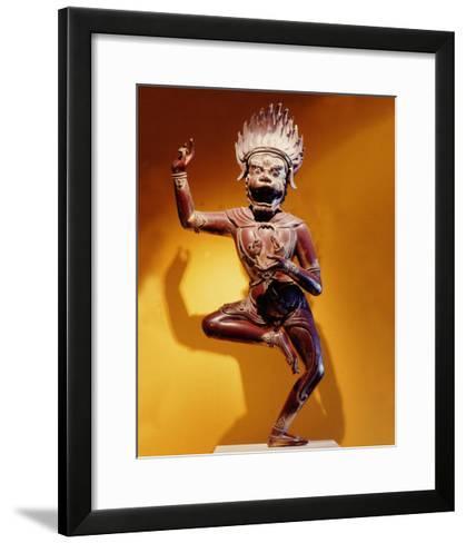 A Statue of Simhavaktra Dakini, a Lion-Faced Dakini--Framed Art Print