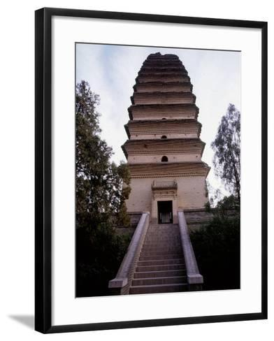 The Lesser Goose Pagoda Located to the South of the Present City Wall of Xian--Framed Art Print