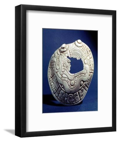 Shell Pendant with Head of a Mayan Dignitary--Framed Art Print