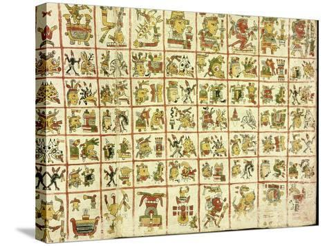 Codex Cospi - Magical Calendar--Stretched Canvas Print