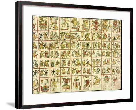 Codex Cospi - Magical Calendar--Framed Art Print
