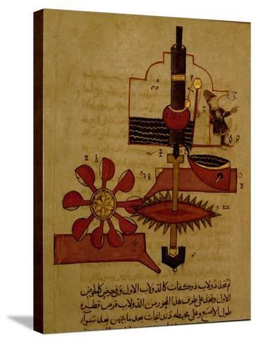 Miniature from a Mamluk Copy of the 'Automata of Al Jaziri' or the 'Book of Knowledge of…--Stretched Canvas Print