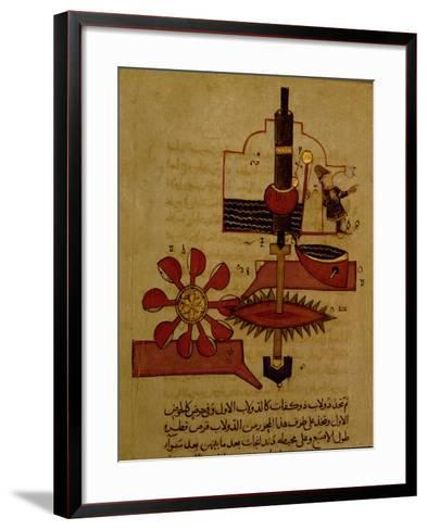 Miniature from a Mamluk Copy of the 'Automata of Al Jaziri' or the 'Book of Knowledge of…--Framed Art Print