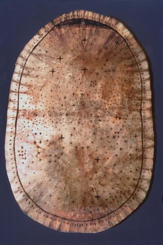 Pawnee Buckskin Chart of the Night Sky--Stretched Canvas Print