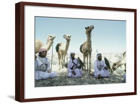 Hawking Is a Traditional Sport of the Bedu and Is Still Very Popular in the Emirates--Framed Art Print