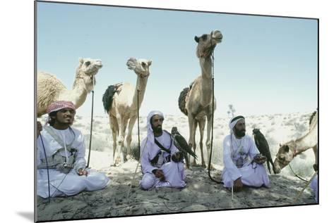 Hawking Is a Traditional Sport of the Bedu and Is Still Very Popular in the Emirates--Mounted Giclee Print