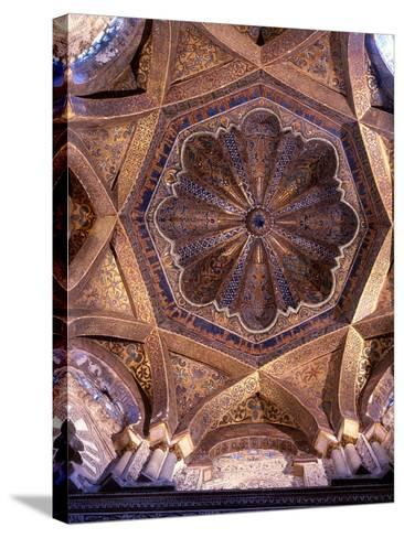 The Dome over the Bay in Front of the Mihrab in the Great Mosque at Cordoba--Stretched Canvas Print