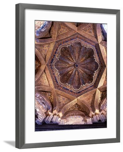 The Dome over the Bay in Front of the Mihrab in the Great Mosque at Cordoba--Framed Art Print