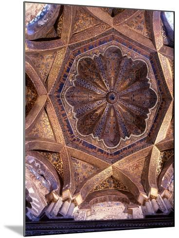 The Dome over the Bay in Front of the Mihrab in the Great Mosque at Cordoba--Mounted Giclee Print