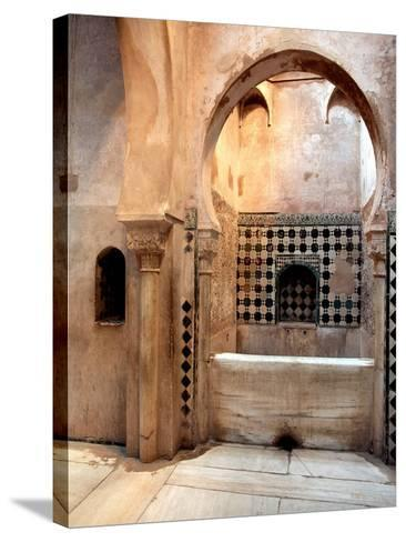 The Royal Baths in the Harem--Stretched Canvas Print