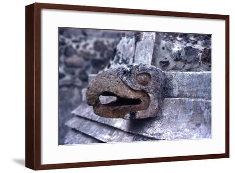 Carved Stone Coloured Eagle Head Adorning the Front of the Eagle Temple--Framed Art Print