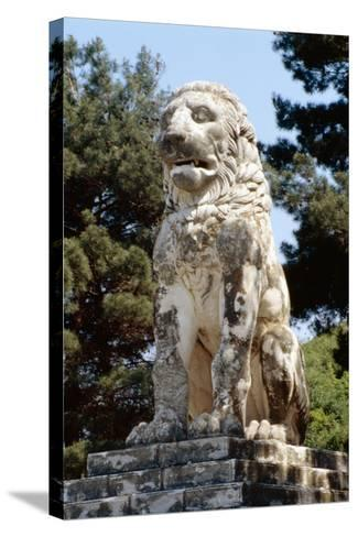 The Lion of Amphipolis, in Macedonia, Northern Greece Dates to the 2nd C Bc--Stretched Canvas Print