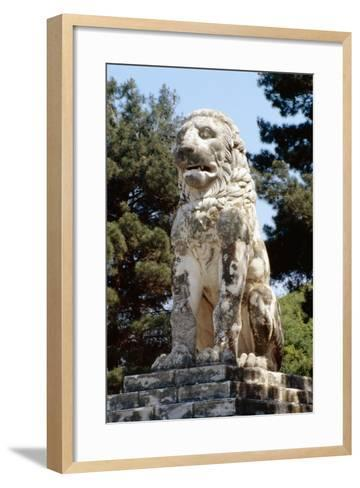 The Lion of Amphipolis, in Macedonia, Northern Greece Dates to the 2nd C Bc--Framed Art Print