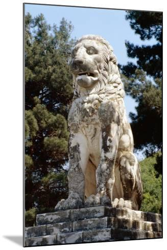 The Lion of Amphipolis, in Macedonia, Northern Greece Dates to the 2nd C Bc--Mounted Giclee Print