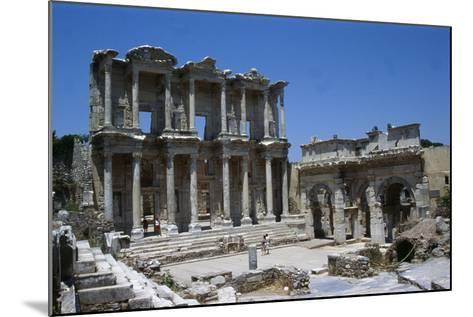 View of the Celcius Library at Ephesus, the Second Largest Library of the Ancient World after…--Mounted Giclee Print