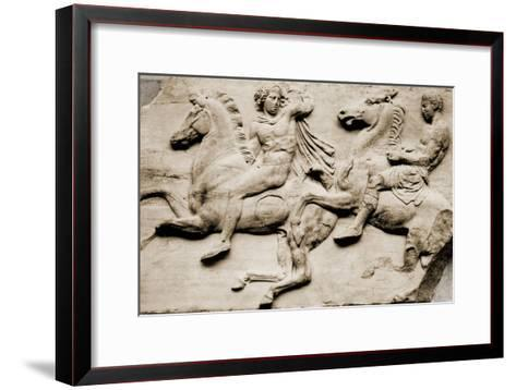 Detail of Two Galloping Riders from the West Frieze of the Parthenon--Framed Art Print