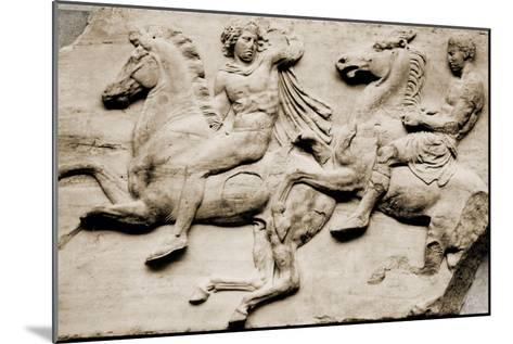 Detail of Two Galloping Riders from the West Frieze of the Parthenon--Mounted Giclee Print