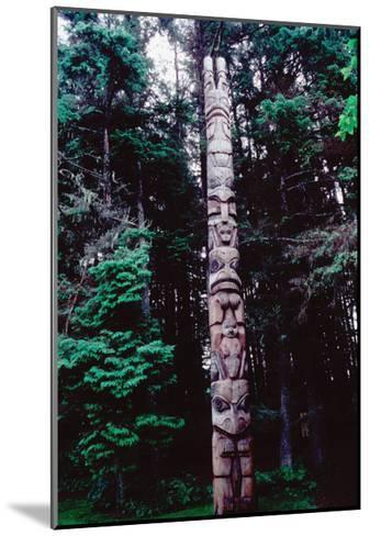 Totem Pole Belonging to the Yaadaas Clan of the Haida--Mounted Giclee Print