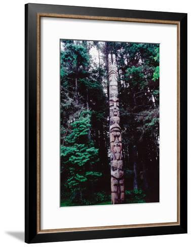Totem Pole Belonging to the Yaadaas Clan of the Haida--Framed Art Print