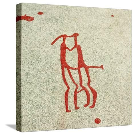 Vitlycke Is One of the Largest Surfaces of Rock Carvings in the Whole of Scandinavia--Stretched Canvas Print