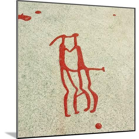 Vitlycke Is One of the Largest Surfaces of Rock Carvings in the Whole of Scandinavia--Mounted Giclee Print