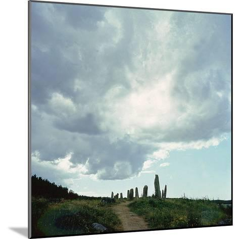 Burial Site with Stones Forming the Shape of a Ship--Mounted Giclee Print