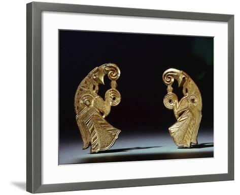 Odin's Birds, a Pair of Harness Mounts from Gotland--Framed Art Print