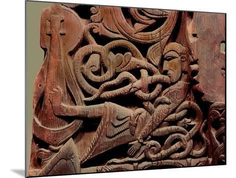 Detail of a Carving from a Stave Church Portal Illustrating the Story of Sigurd--Mounted Giclee Print
