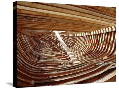 Dhows are Still Constructed Using the Traditional Methods at Ajman Wharf, Using Woods Brought…--Stretched Canvas Print