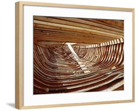 Dhows are Still Constructed Using the Traditional Methods at Ajman Wharf, Using Woods Brought…--Framed Art Print