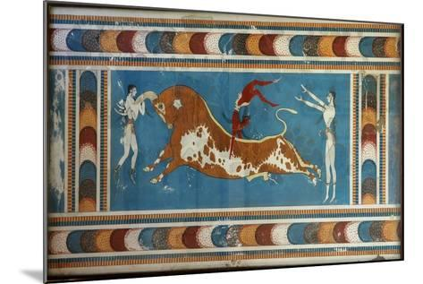 Bull Fighting Fresco, from Knossos, Painted around 1550-1450 BC--Mounted Giclee Print