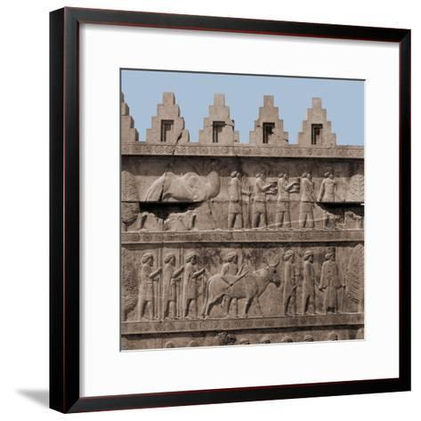 A Detail of the Reliefs on the Stairways Leading to the Audience Hall of Darius and Xerxes--Framed Art Print