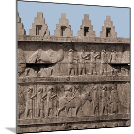 A Detail of the Reliefs on the Stairways Leading to the Audience Hall of Darius and Xerxes--Mounted Giclee Print