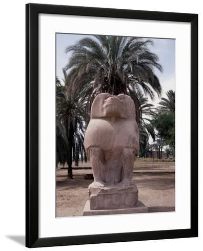 One of the Colossal Statues of the God Thoth, in His Baboon Aspect, at Hermopolis Magna--Framed Art Print