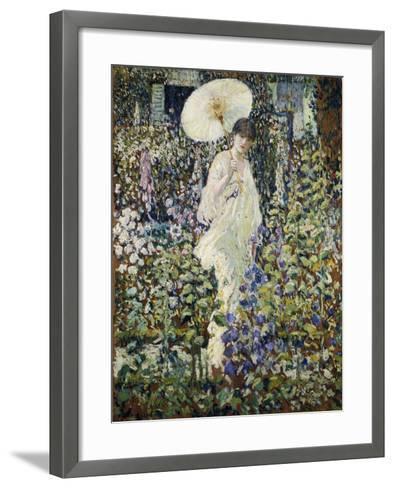 Sun and Wind-Frederick Carl Frieseke-Framed Art Print