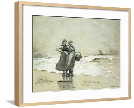Blyth Sands, 1882-Winslow Homer-Framed Art Print