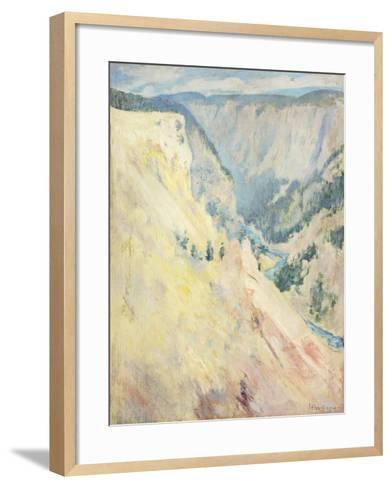 Yellowstone Park-John Henry Twachtman-Framed Art Print