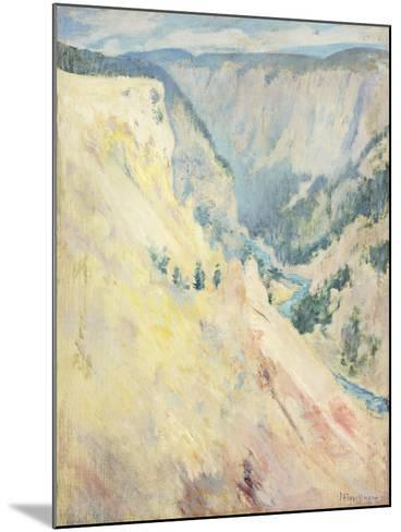 Yellowstone Park-John Henry Twachtman-Mounted Giclee Print