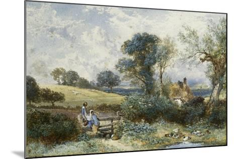 By the Duck Pond-Myles Birket Foster-Mounted Giclee Print