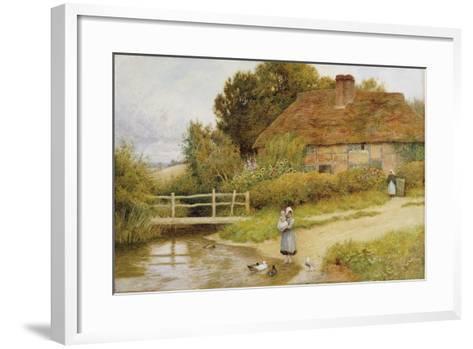 Watching the Ducks-Arthur Claude Strachan-Framed Art Print