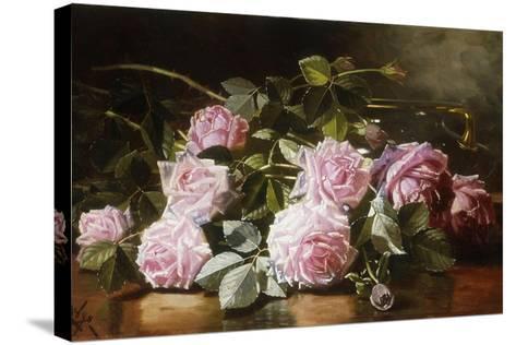 Rainwashed Roses, 1898-Edward Chalmers Leavitt-Stretched Canvas Print