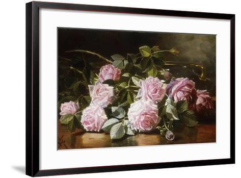Rainwashed Roses, 1898-Edward Chalmers Leavitt-Framed Art Print