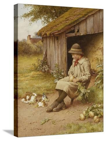His Last Investment-Charles Edward Wilson-Stretched Canvas Print