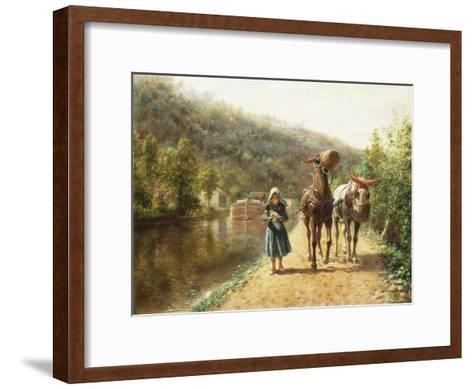 On the Towpath-Edward Lamson Henry-Framed Art Print
